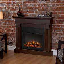 Indoor Electric Fireplace Real Indoor Electric Fireplace Mahogany Hayneedle