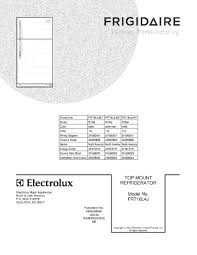 frigidaire refrigerator wiring schematic model frt18l4j
