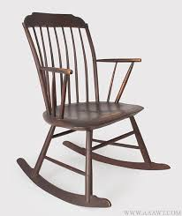 Rocker Armchair Antique Furniture Chairs Early Country Pilgrim American
