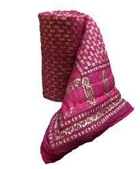 Bed Quilt Buy Mharo Rajasthan Traditional Pink Jaipuri Rajai Razai Quilt