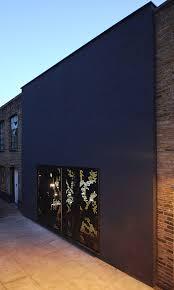 modern house amazing facade design inside hidden house near dark
