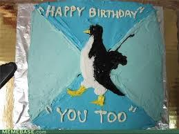 Penguin Birthday Meme - vickie jones not on fb any more sends socially awkward penguin
