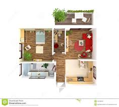 Home Plan Com by House Plan Top View Interior Design Stock Illustration Image