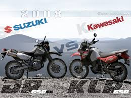 2008 kawasaki klr650 vs suzuki dr650se preview motousa youtube