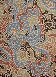 flores indoor outdoor rug in blue and red by jaipur rugs