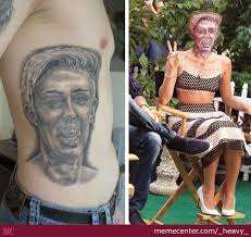 Old Man Tattoo Meme - cancerous tattoo is cancerous by heavy meme center
