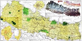 Physical Map Of China by Large Detailed Road And Physical Map Of Nepal Nepal Large