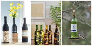 home decor ideas from waste wine bottle crafts diy wine bottles