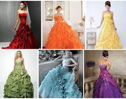 coloured dress coloured wedding dresses like them or loathe them
