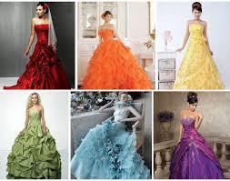 coloured wedding dresses like them or loathe them