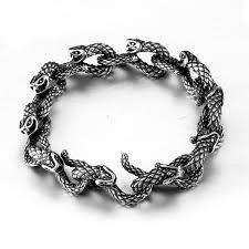 stainless steel snake bracelet images Snake link bracelet stainless steel herp life jpg