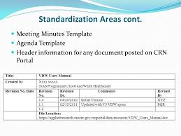 standardizing naming conventions and document templates for virtual d u2026