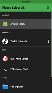efidroid a second stage bootloader using uefi firmware to