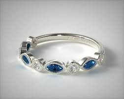 sapphire wedding ring and marquise sapphire wedding ring 14k white gold