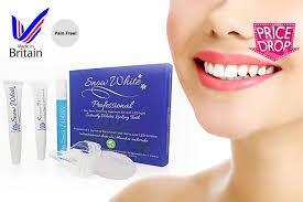 teeth whitening kit with led light professional 7 day pain free teeth whitening kit with led light