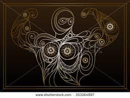 ornament card maa durga illustration happy stock vector 335979131