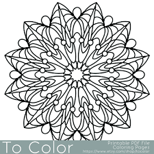 simple printable coloring pages for adults gel pens mandala