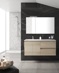 Valencia Bathroom Furniture Valencia 1200mm 2 Drawer 2 Door Wall Hung Unit Nordic Oak