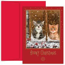 meowy christmas cards cheminee website
