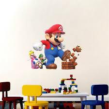 Super Mario Bedroom Decor Super Mario Bro Bedroom Wall Decal Nintendo Game Room Decor