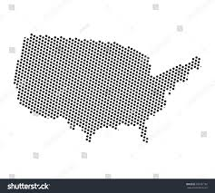 Map Of Unite States by Abstract Map United States America Dots Stock Vector 695327182