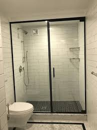 Mirage Shower Doors Classic Styling Trimmed In Flat Black Mirage Shower Doors Corp