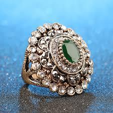 big vintage rings images Fashion vintage look ring gold color big round crystal flower jpg