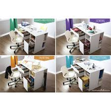 south shore artwork craft table with storage pure white south shore crea craft table multiple finishes walmart com