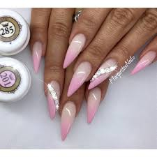pink ombré stiletto nails nail art gallery