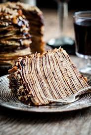 crepe cake rebanando dessert pinterest crepe cake crepes