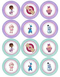 doc mcstuffins cupcake toppers doctora juguetes imprimibles gratis printable tags fiestas and