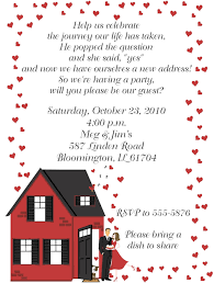 housewarming registry engagement party invitations