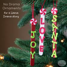 popsicle stick ornaments for a llama drama story