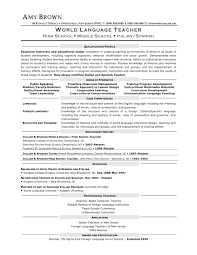 Teaching Resume Sample by Resume Sample For Arabic Teacher Templates