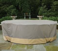 Round Patio Table Cover With Zipper by Patio Armor Ultra Mega Furniture Cover With Rip Stop Fabric U2014 Qvc Com