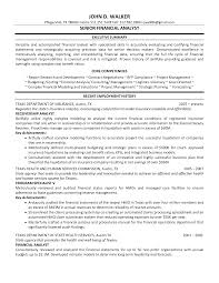 Resume Job History Format by Resume Format For Financial Analyst Resume For Your Job Application