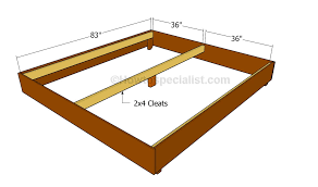 King Size Bed Frame Slats King Size Bed Frame Plans Howtospecialist How To Build Step