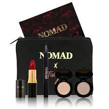 nomad x florence bella bag makeup travel set with lipstick