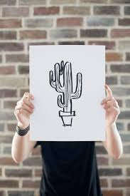 cactus sketch art on sale u2022 vintage revivals