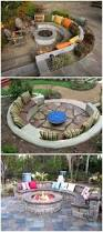 Circular Patio Seating Backyards Backyard Fire Pit Plans Outdoor Fire Pit Designs