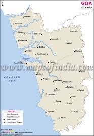 Map Of Maine Cities Cities In Goa Goa Cities Map