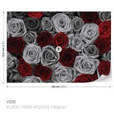 wall mural photo wallpaper xxl red grey roses flowers vintage wall mural photo wallpaper xxl red grey roses