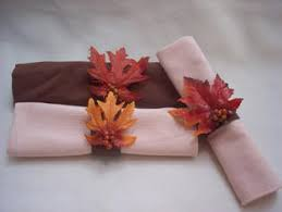 diy fall decorations napkin rings fall leaves and napkins