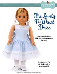 v shaped dress pattern pixie faire my angie girl the lovely v waist dress doll clothes