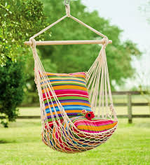 plow u0026 hearth cotton and polyester chair hammock u0026 reviews