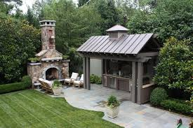 Outdoor Kitchen Pavilion Designs by Outdoor Kitchen And Fireplace Traditional Patio Other By