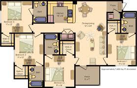 4 bedroom floor plan floor plans the edge at norman