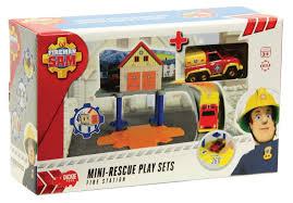 fireman sam mini playset fire station toys toyworld