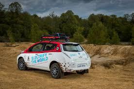 nissan leaf bike rack modified nissan leaf enters 10 000 mile mongol rally automobile