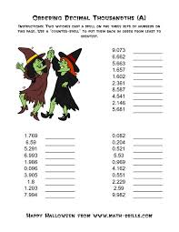 ordering decimals worksheet worksheets